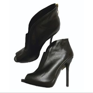 Sexy Black Guess Peep-toe Stiletto Bootie